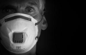 CORVID-19 coronavirus man with prostate cancer wearing mask